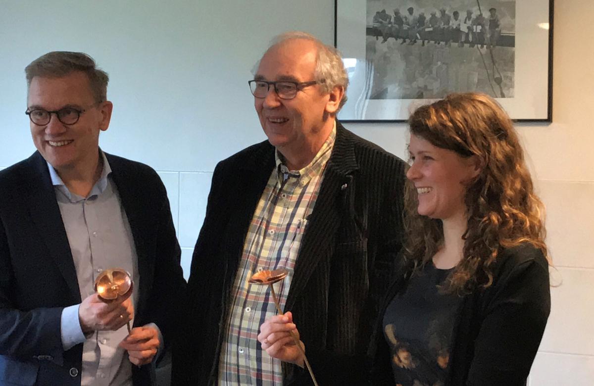 v.l.n.r. Eppo Bruins, Cees Pronk en Anne Kuik