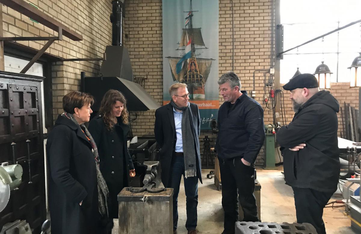 v.l.n.r. Elrie Bakker, Anne Kuik, Eppo Bruins, Rupert Kühn en Wout Hammer